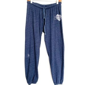 Spiritual Gangster Heather Blue Heart Sweatpants
